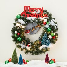 Santa Workshop Miniature Wreath, medium