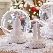 Paper Tree Snow Globe, medium