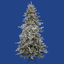 9 Ft. Pre-Lit Frosted Wistler Fir Artificial Christmas Tree, Clear Dura Lights, medium