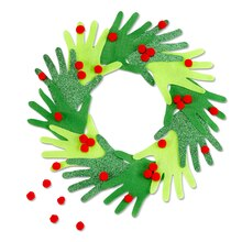 Kid's Hand Christmas Wreath, medium