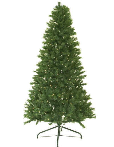 9 Ft. Pre Lit Canadian Pine Artificial Christmas Tree, Clear Lights, Medium