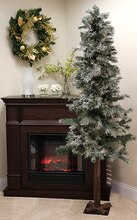 7 Ft. Frosted & Glittered Woodland Alpine Artificial Christmas Tree, Unlit