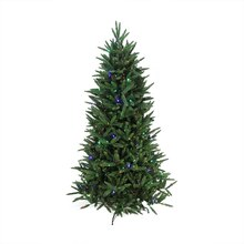 9 Ft. Pre-Lit Mixed Pine Multi-Function Remote Control Artificial Christmas Tree, Clear/Multi, medium