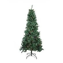 7.5 Ft. Pre-Lit Slim Pine Artificial Christmas Tree, Multicolor Lights