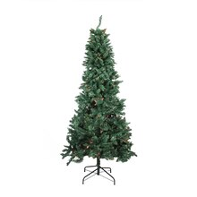 9 Ft. Pre-lit Slim Pine Artificial Christmas Tree, Multicolor Lights