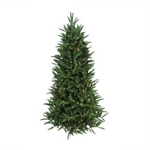 6.5 Ft. Pre-Lit Mixed Pine Multi-Function Artificial Christmas Tree w/ Remote Control, Clear
