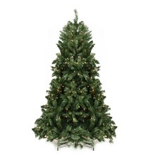 6.5 Ft. Pre-lit Minetoba Pine Artificial Christmas Tree, Clear Lights