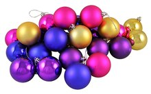 "24ct Matte/Shiny Vibrant Multi Shatterproof Christmas Ball Ornaments 2.5"", medium"