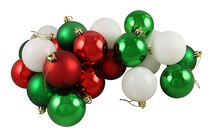 "24ct Matte/Shiny Peppermint Shatterproof Christmas Ball Ornaments 2.5"", medium"
