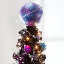 Galaxy Planet Christmas Tree Topper, medium