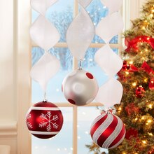 Spiral Ribbon Hanging Ornaments, medium
