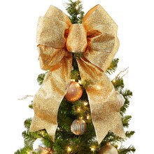 Gold Bowtastic Christmas Tree Topper, medium