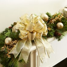 Gold Bow Mantel Decor, medium
