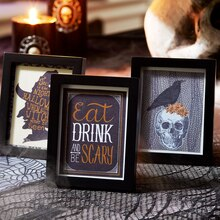 Framed Halloween Artwork, medium