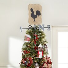 Farm Themed Weather Vane Christmas Tree Topper, medium