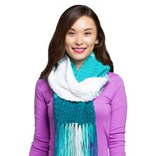 Loops & Threads® Colorwheel™ Ombré Crochet Scarf, medium