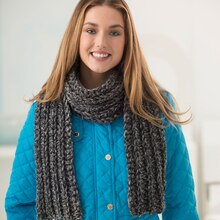 Lion Brand® Wool-Ease® Thick & Quick® Bonus Bundle 1 Ball Crochet Scarf, medium