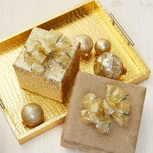 Gold Bow Wrapped Gifts, medium