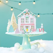 Christmas Ginger Pastel Paper House, medium