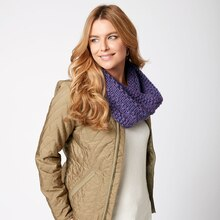 Loops & Threads® Cozy Wool™ Full Circle Texture Knit Cowl, medium