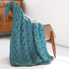 Bernat® Blanket™ Cable Knit Afghan, medium