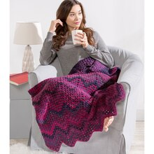 Loops & Threads® Barcelona Ripple Crochet Throw, medium