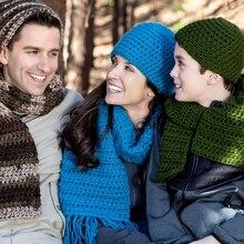 Loops & Threads® Charisma™ Crochet Hats for the Family, medium