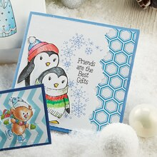 Cool Penguin Christmas Card, medium