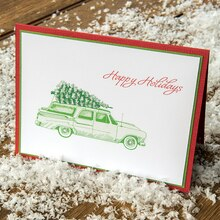 Home for Christmas Stamped Card, medium