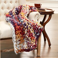 Loops & Threads® Chunky Finger Crochet Lap Blanket, medium