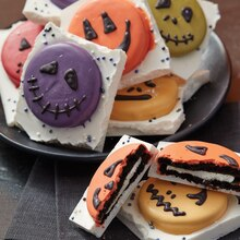Fun and Frightening Faces Halloween Bark Cookies, medium