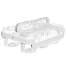 Stackable Caddy Organizer By Make Market, White Empty