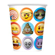 9oz Celebration Emoji Paper Cups, 8ct