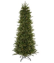 4.5 Ft. Pre-Lit Slim Vermont Fir Instant Shape Artificial Christmas Tree, Clear