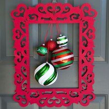 Hanging Christmas Ornament Frame Wreath, medium