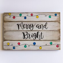 Merry and Bright Christmas Sign, medium