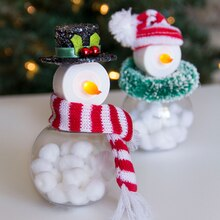 Tea Light Snowmen, medium