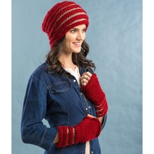 Loops & Threads® Charisma™ Concertina Hat & Mitts, medium