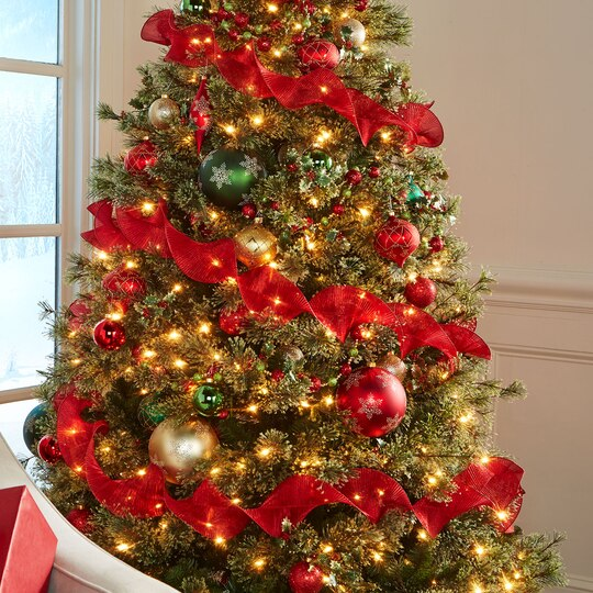 7 5 ft pre lit jasper cashmere artificial christmas tree for Michaels crafts christmas trees