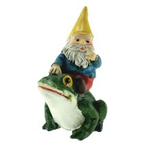 Miniature Gnome on Frog By Celebrate It