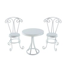 Miniature Swirl Bistro Table & Chairs By Celebrate It
