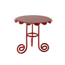Miniature Spring Dark Red Table By Celebrate It