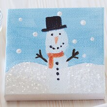 Kids Club® Fingerprint Snowman Canvas, medium