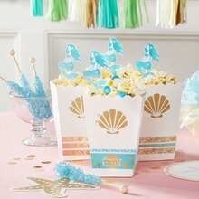 Enchanted Mermaid Popcorn Boxes, medium