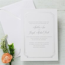 Gartner Studios Formal Silver Border Invitation
