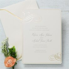 Gartner Studios Formal Gold Foil Swirl Invitation
