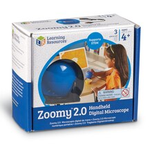 Zoomy 2.0 Handheld Digital Microscope, Blue Box