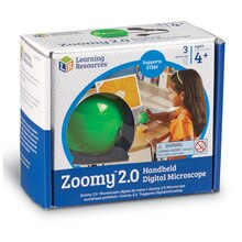 Zoomy 2.0 Handheld Digital Microscope, Green Package