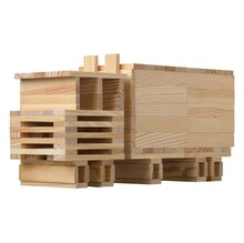 CitiBlocs 200-Piece Natural-Colored Building Blocks Truck