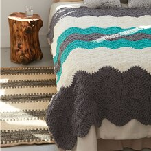 Bernat® Blanket™ Shadow Waves Crochet Blanket, medium